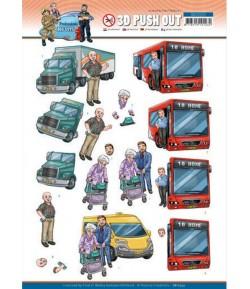 FEUILLE 3D BIG GUYS PROFESSIONS CHAUFFEUR - SB10555