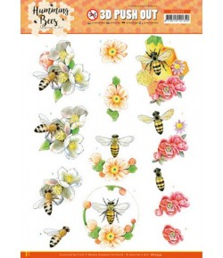 FEUILLE 3D HUMMING BEES - SB10558