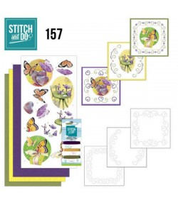 KIT 3D A BRODER  BUTTERFLY TOUCH - STITCH AND DO - STDO157