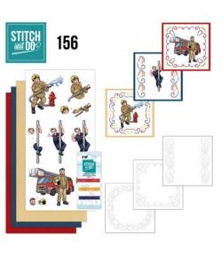 KIT 3D A BRODER  BIG GUYS PROFESSIONS - STITCH AND DO - STDO156