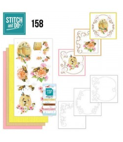 KIT 3D A BRODER  HUMMING BEES - STITCH AND DO - STDO158