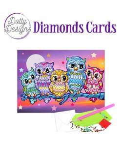 MINI KIT CARTE DIAMONDS PETITES CHOUETTES 10X15CM DDDC1026