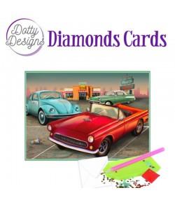 MINI KIT CARTE DIAMONDS VINTAGE CARS 10X15CM DDDC1028