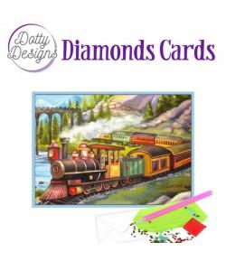 MINI KIT CARTE DIAMONDS VINTAGE TRAIN 10X15CM DDDC1029