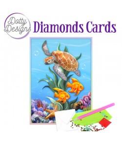 MINI KIT CARTE DIAMONDS TORTUE 10X15CM DDDC1036
