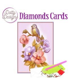 MINI KIT CARTE DIAMONDS OISEAU 10X15CM DDDC1038
