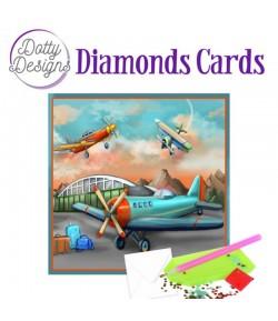 MINI KIT CARTE DIAMONDS AVIONS 15X15CM DDDC1027