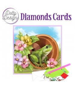 MINI KIT CARTE DIAMONDS GRENOUILLE 15X15CM DDDC1037