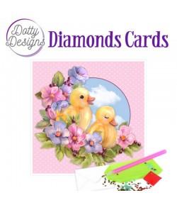 MINI KIT CARTE DIAMONDS CANARDS 15X15CM DDDC1039