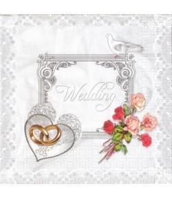 SERVIETTE MARIAGE 4