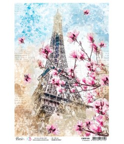 PAPIER DE RIZ A4 CAFES DE PARIS 21 X 29.7CM CBRP187