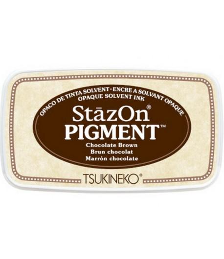ENCREUR STAZON PIGMENT - BRUN CHOCOLAT