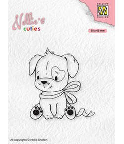 TAMPON DOG WITH CHRISTMAS BOW - NCCS015