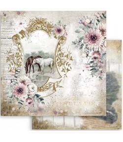 PAPIER ATELIER ROMANTIC HORSES 30X30CM - SBB799 - STAMPERIA