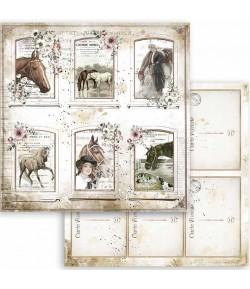 PAPIER ATELIER ROMANTIC HORSES CARDS 30X30CM - SBB802 - STAMPERIA