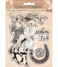TAMPONS CLEAR ROMANTIC HORSES 14X18 WTK156