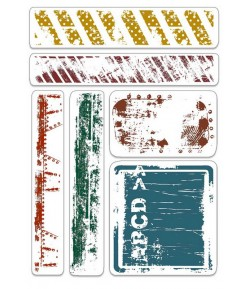 TAMPONS TRANSPARENTS URBAN TAGS AND BORDERS PSB6022
