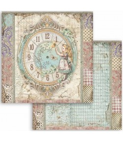 PAPIER ALICE - CLOCK 30 X 30 CM - SBB815 STAMPERIA