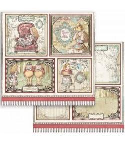 PAPIER ALICE CARDS 30 X 30 CM - SBB817 STAMPERIA