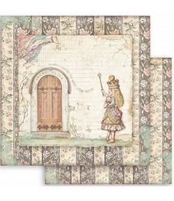 PAPIER ALICE DOOR 30 X 30 CM - SBB819 STAMPERIA