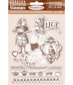 TAMPONS HD ALICE CHECKMATE 14X18CM WTKCC204 STAMPERIA