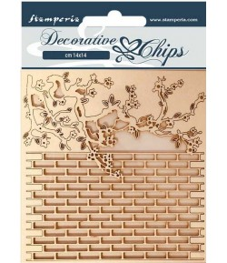 FORMES CARTON DECORATIVE CHIPS ALICE WALL 14X14CM - SCB78
