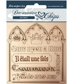 FORMES CARTON DECORATIVE CHIPS SLEEPING BEAUTY QUOTES 14X14CM - SCB56