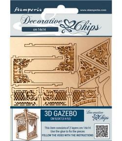 FORMES CARTON DECORATIVE CHIPS BEAUTY JUST 3D GAZEBO 14X14CM - SCB63