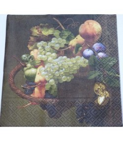 SERVIETTE PANIER DE FRUITS