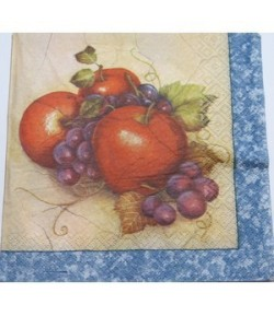 SERVIETTE FRUITS AUTOMNE