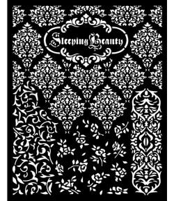 POCHOIR SLEEPING BEAUTY TEXTURES 20X25 EP 0.25 KSTD079 STAMPERIA