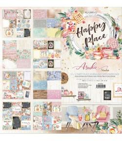 BLOC 8 FEUILLES 30.5 X 30.5 CM - HAPPY PLACE JOURNALING CARDS  - ASUKA STUDIO