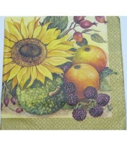 SERVIETTE FRUITS ET TOURNESOL