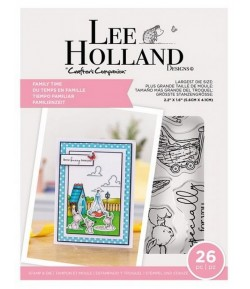 TAMPONS ET DIES FAMILY TIME - LEE HOLLANDE CRAFTER'S COMPANION