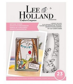 TAMPONS ET DIES BIRTHDAY WISHES - LEE HOLLAND CRAFTER'S COMPANION