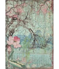 PAPIER DE RIZ A4 SIR VAGABOND IN JAPAN - ORIENTAL TREE 21X29.7 - DFSA4607 - STAMPERIA
