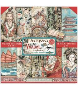 BLOC 10 FEUILLES SIR VAGABOND IN JAPAN 30.5 X 30.5 CM  SBBL95