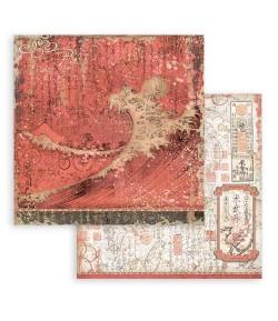 PAPIER SIR VAGABOND IN JAPAN RED TEXTURE 30 X 30 CM - SBB824 STAMPERIA