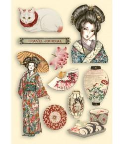 FORMES EN BOIS A5 SIR VAGABOND IN JAPAN - LADY  KLSP106 STAMPERIA