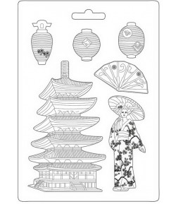 MOULE PVC FLEXIBLE SIR VAGABOND IN JAPAN - PAGODA 21 X 29.7 CM - K3PTA4509