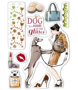 TAMPONS TRANSPARENTS DOG AIR IS MY GLITTER PS8001 CIAO BELLA
