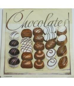 SERVIETTE CHOCOLATS
