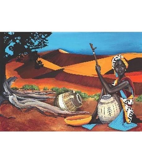 PAPIER DE RIZ DESERT AFRICAIN 35 X 50 CM 128