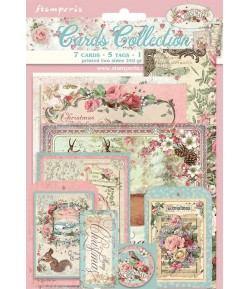 KIT CARTE COLLECTION PINK CHRISTMAS - SBCARD07 STAMPERIA