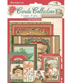 KIT CARTE COLLECTION CLASSIC CHRISTMAS - SBCARD07 STAMPERIA
