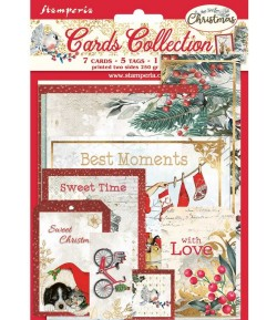 KIT CARTE COLLECTION ROMANTIC CHRISTMAS - SBCARD09 STAMPERIA
