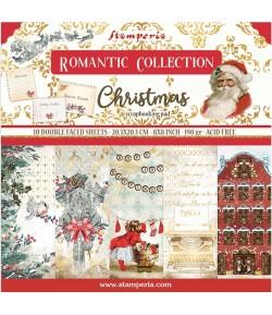 BLOC 10 FEUILLES ROMANTIC CHRISTMAS 20.3X20.3CM SBBS44 STAMPERIA