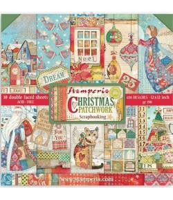 BLOC 10 FEUILLES CHRISTMAS PATCHWORK 30.5 X 30.5 CM  SBBL91