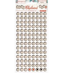 CHIPBOARD ROMANTIC CHRISTMAS  15X30 - DFLCB43 STAMPERIA