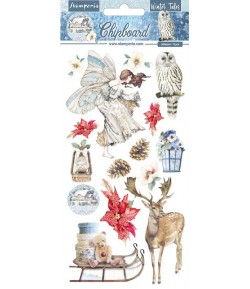 CHIPBOARD WINTER TALES CHRISTMAS 15X30 - DFLCB33 STAMPERIA